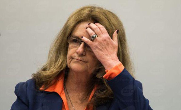 Graça Foster durante a CPI da Petrobras.