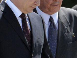 Os presidentes da Rússia e de Cuba em Havana.