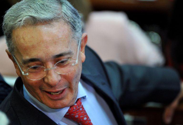 Uribe, em sua volta ao Congreso de Colombia