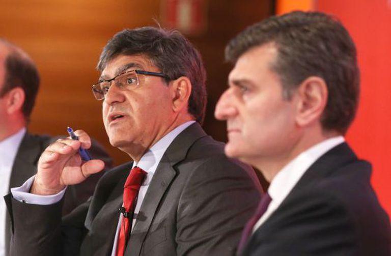 José Antonio Álvarez e José García Cantera nesta terça-feira na apresentação de resultados.