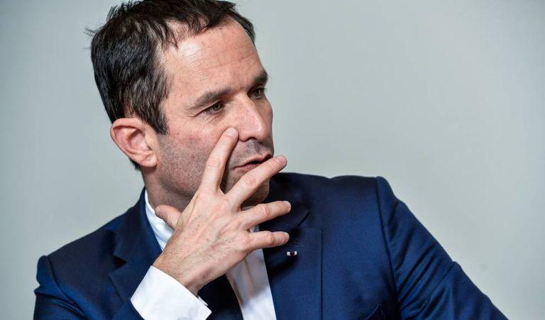 O candidato socialista à presidência da França, Benoit Hamon, nesta terça-feira em Bruxelas.