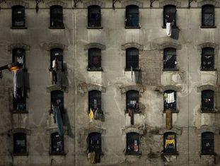 A fachada de um presídio paulista.