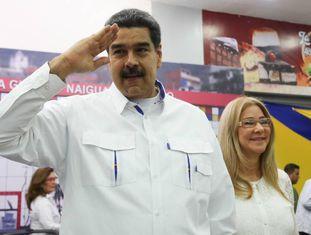 Nicolás Maduro, na cidade Guaira