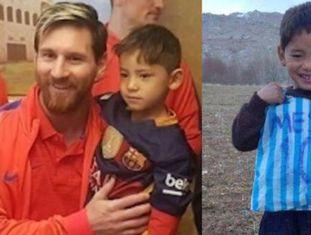 Lionel Messi junto a Murtaza no hotel do Barça em Doha