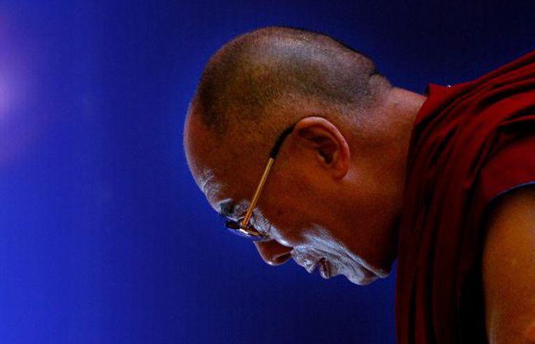O Dalai Lama Tenzin Gyatso, em 21 de setembro na Índia.