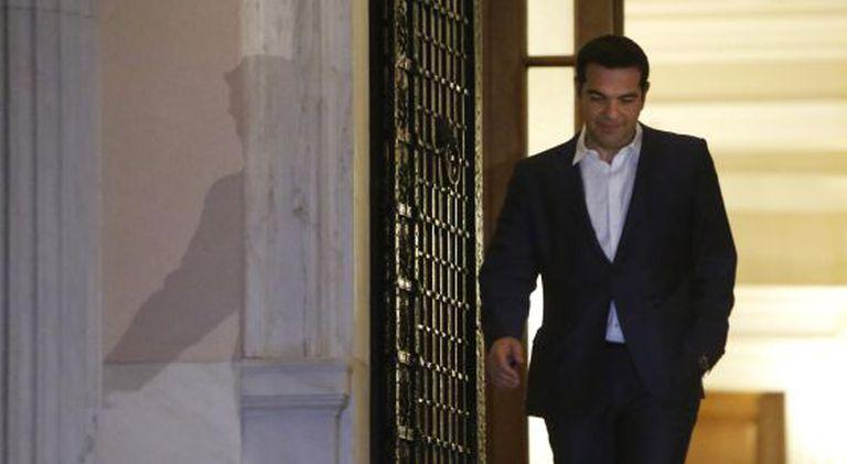 O primeiro-ministro grego, Alexis Tsipras, depois de anunciar o referendo.