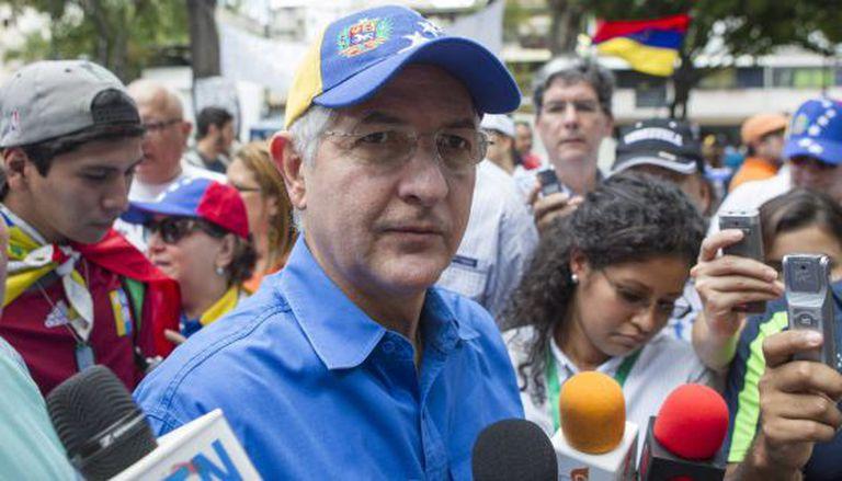 Antonio Ledezma, prefeito de Caracas, em uma manifestação em 2014.
