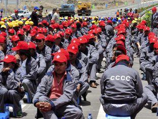 Inauguração de uma estrada construída pelos chineses na Etiópia.