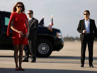 Melania Trump, no aeroporto internacional de West Palm Beach.