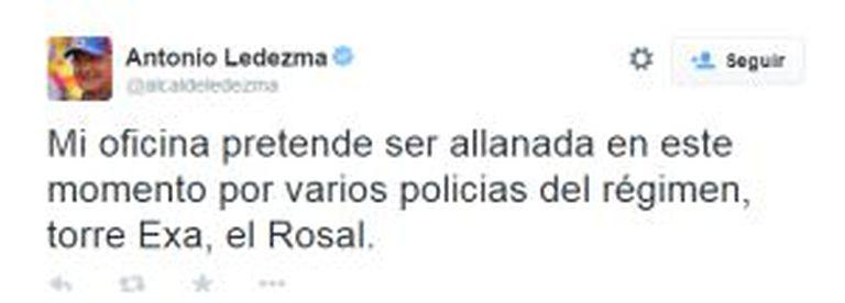 Twitter de @alcaldeledezma.