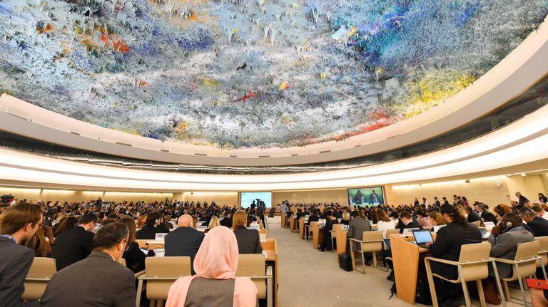 Plenário do Conselho de Direitos Humanos em Genebra.