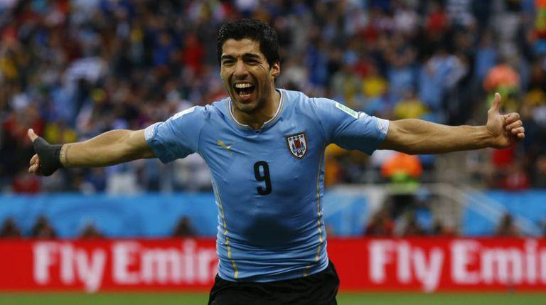 Luis Suárez, o artilheiro da seleção uruguaia.