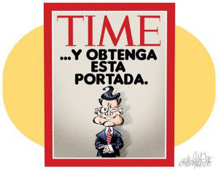 Caricatura publicada nesta sexta-feira no jornal 'Reforma'