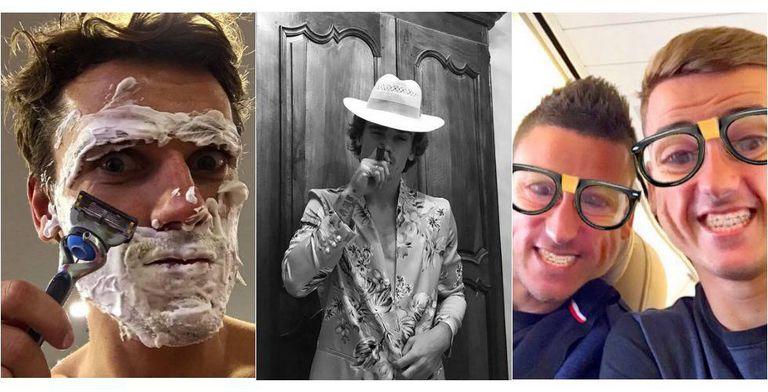 Esta é a vida de Griezmann, e assim ele a documenta em seu Instagram. Tem 11 milhões de seguidores.
