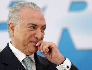 O presidente brasileiro Michel Temer, em um ato em Brasília.