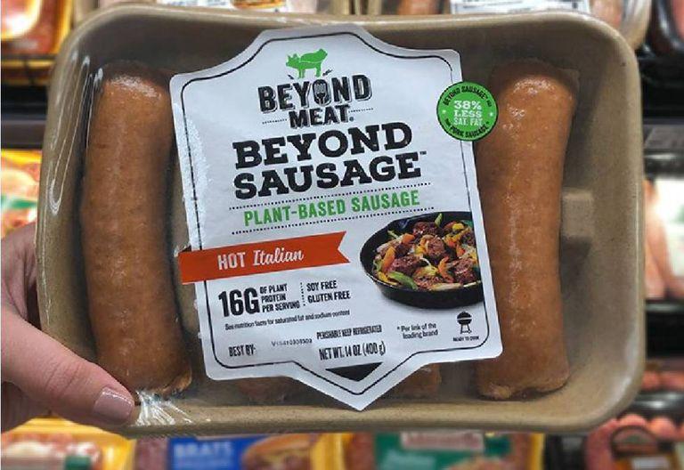Pacote de salsichas vegetais da Beyond Meat