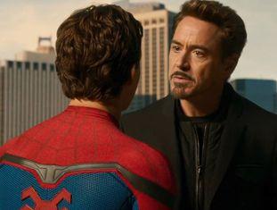 Robert Downey Jr. em Homem-Aranha: De Volta ao Lar.